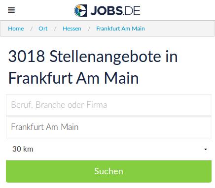 Jobsuche ganz einfach mit jobs.de